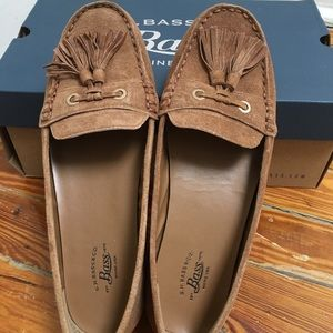 BASS Bonnie Tan Loafers- Size 6.5 Genuine Leather